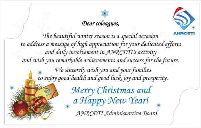 Seasons greetings anrceti wishes to convey a season greeting message to anrceti staff its partners all operators of electronic communications and information technology m4hsunfo