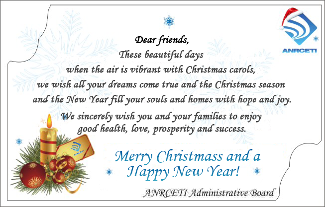 Christmas card messages employees inspiring quotes and words in life anrceti administrative board wishes you happy holidays anrceti m4hsunfo Images