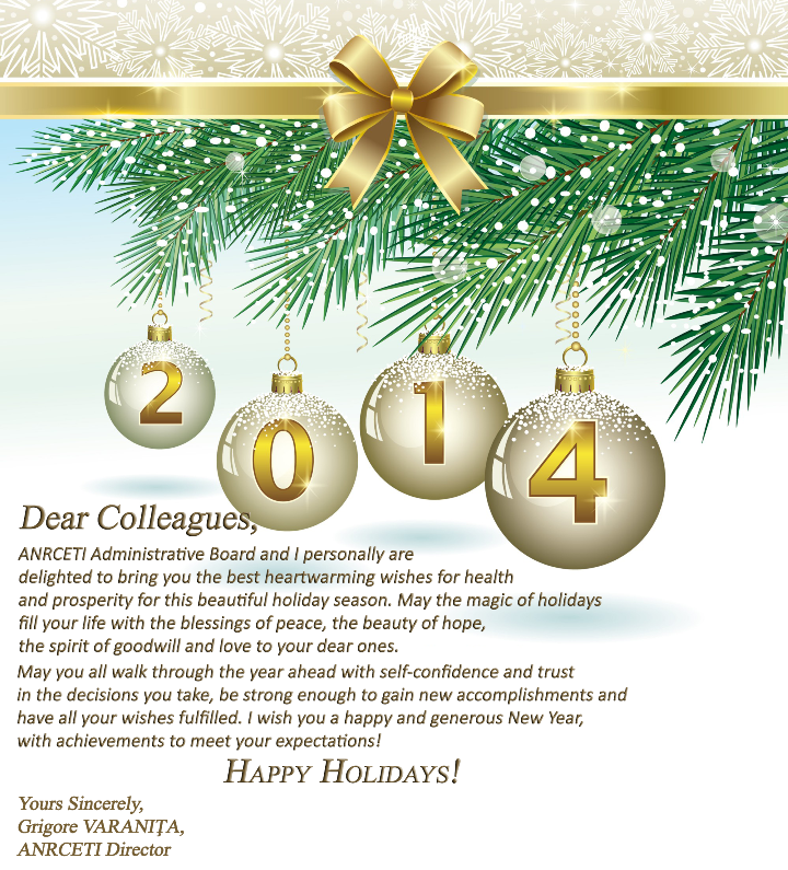 Anrceti management wishes you happy holidays anrceti grigore varanita is conveying his greetings and best wishes to anrceti staff partners all the employees engaged in the sector of communications and m4hsunfo